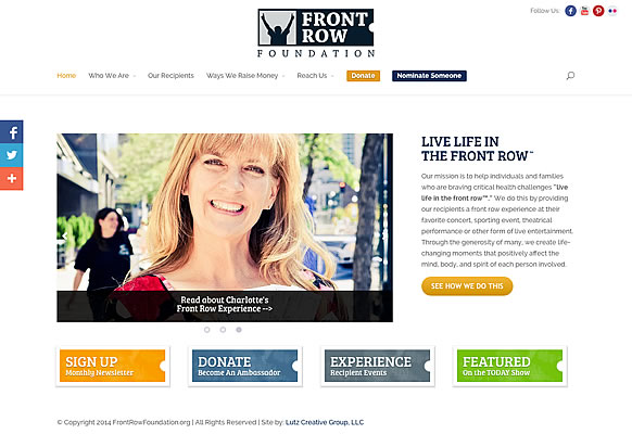 Front Row - Front Row Foundation - (WordPress Website) <a href='http://www.frontrowfoundation.org' target='_blank' class='PopupLink'>www.frontrowfoundation.org</a>