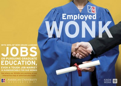 American University's WONK Brand Campaign