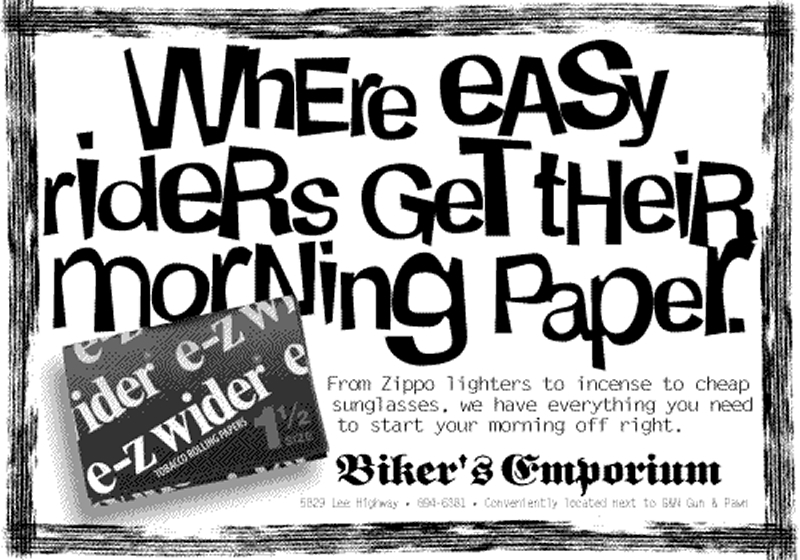 Biker's Emporium - Morning Papers