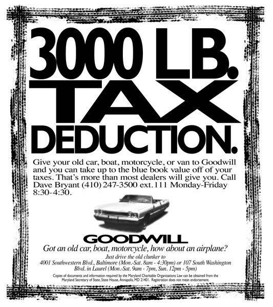 Goodwill - Tax Deduction