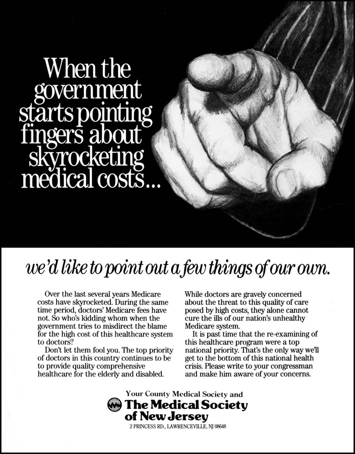Medical Society of New Jersey - Finger Point (Illustration)