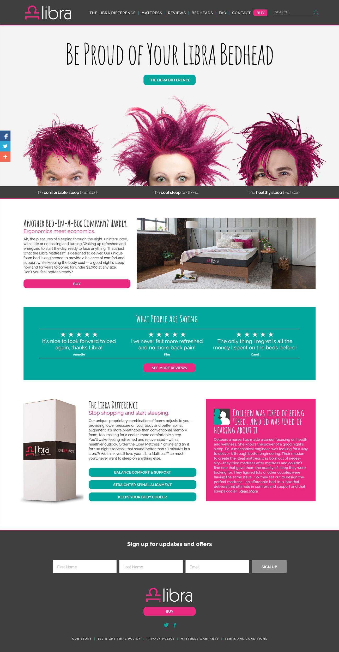 Libra Mattress Homepage