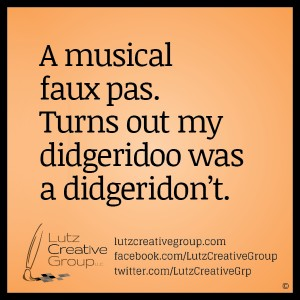 A musical faux pas. Turns out my didgeridoo was a didgeridon't.